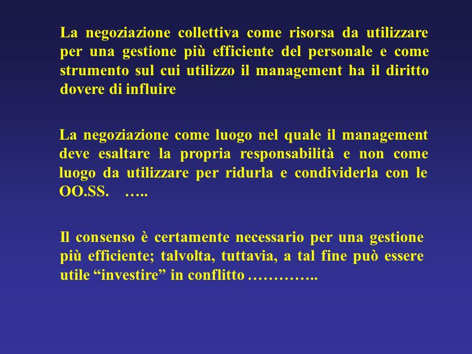 La negoziazione come luogo nel quale il management deve esaltare la propria responsabilità e non come luogo da utilizzare per ridurla e condividerla c