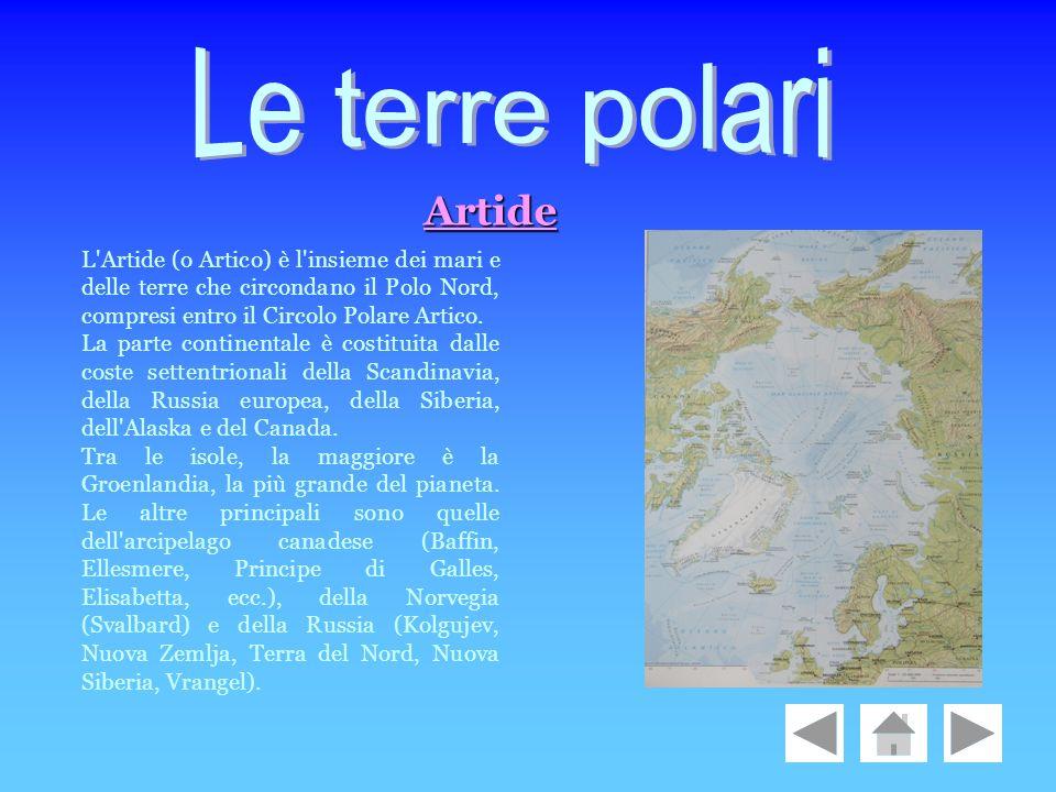 L'Artide (o Artico) è l'insieme dei mari e delle terre che circondano il Polo Nord, compresi entro il Circolo Polare Artico. La parte continentale è c
