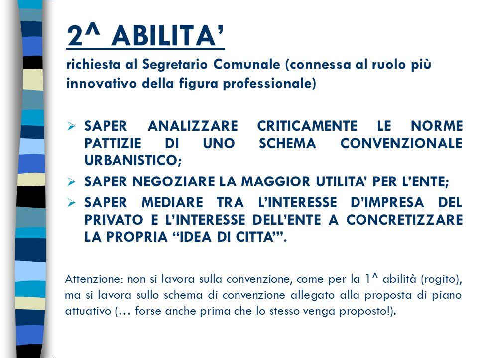 PUNTI DI RIFERIMENTO CONVENZIONE URBANISTICA anello di congiunzione art,.