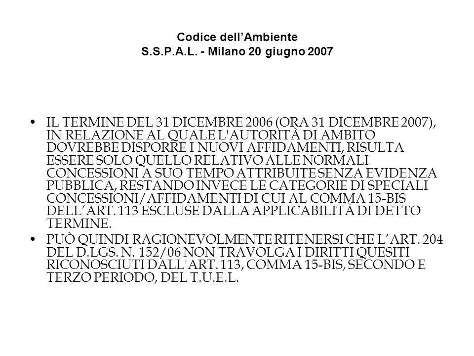 Codice dellAmbiente S.S.P.A.L.