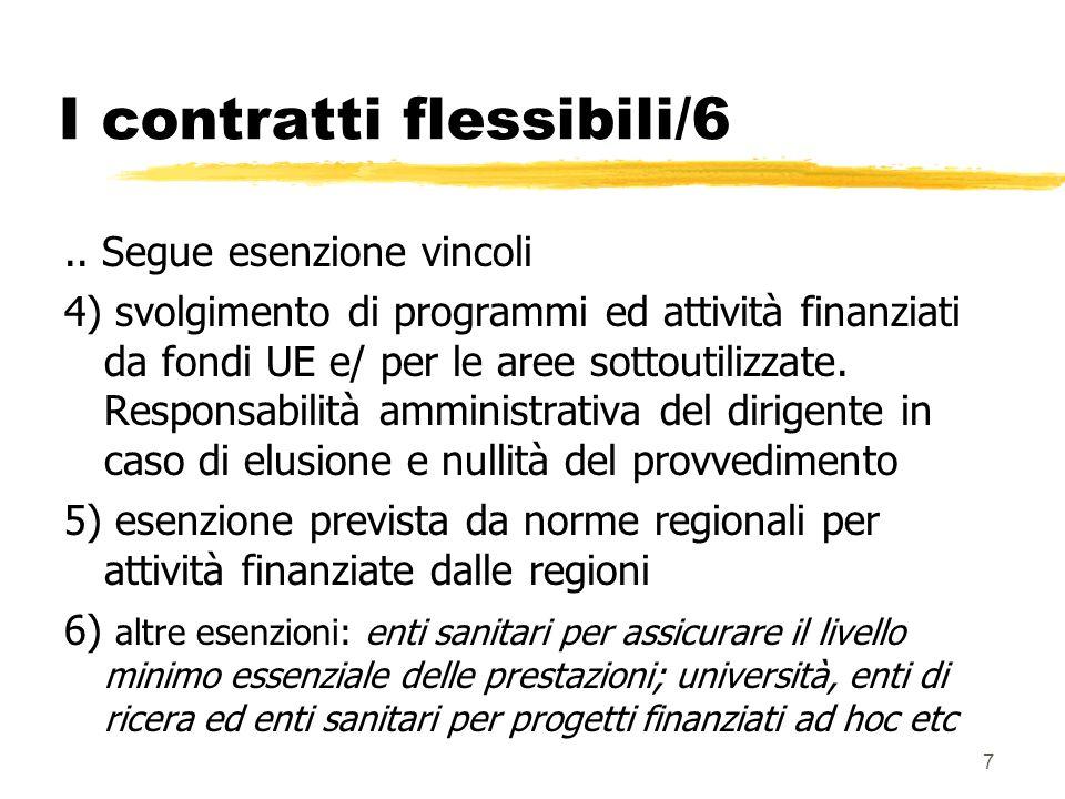 8 I contratti flessibili/7 zLe limitazioni si applicano al personale assunto ex comma 557 legge finanziaria 2005.