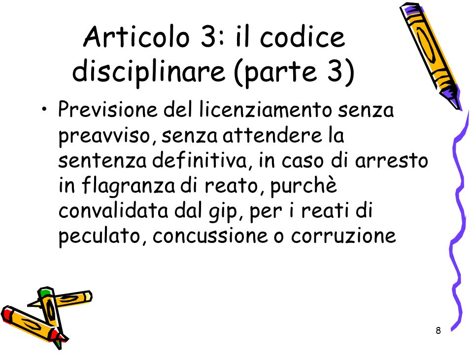 9 Articolo 3: il codice disciplinare (parte 4) Obbligo di affissione del codice disciplinare per almeno 15 giorni in luogo accessibile a tutti i dipendenti Pubblicità tassativa e non sostituibile da altre Non applicazione delle nuove regole alle sanzioni commesse prima della entrata in vigore del CCNL