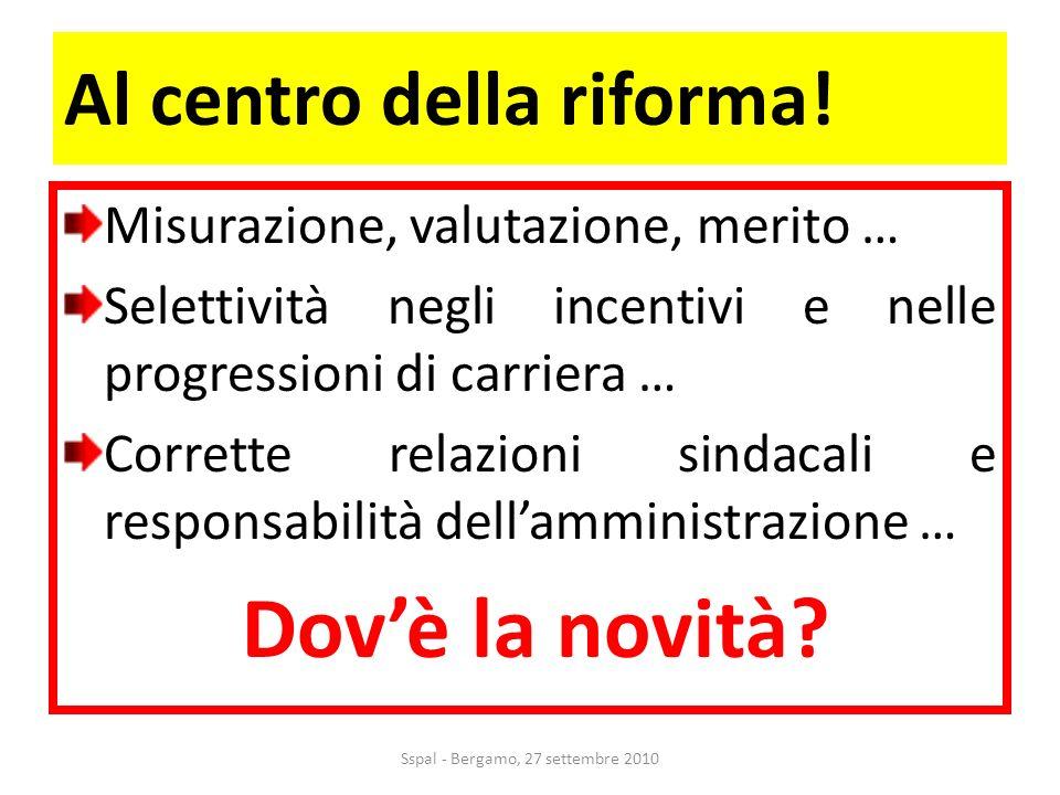 Al centro della riforma.