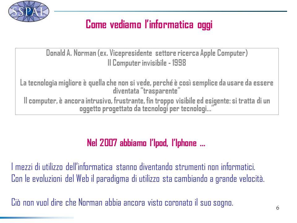 6 Come vediamo linformatica oggi Donald A. Norman (ex.