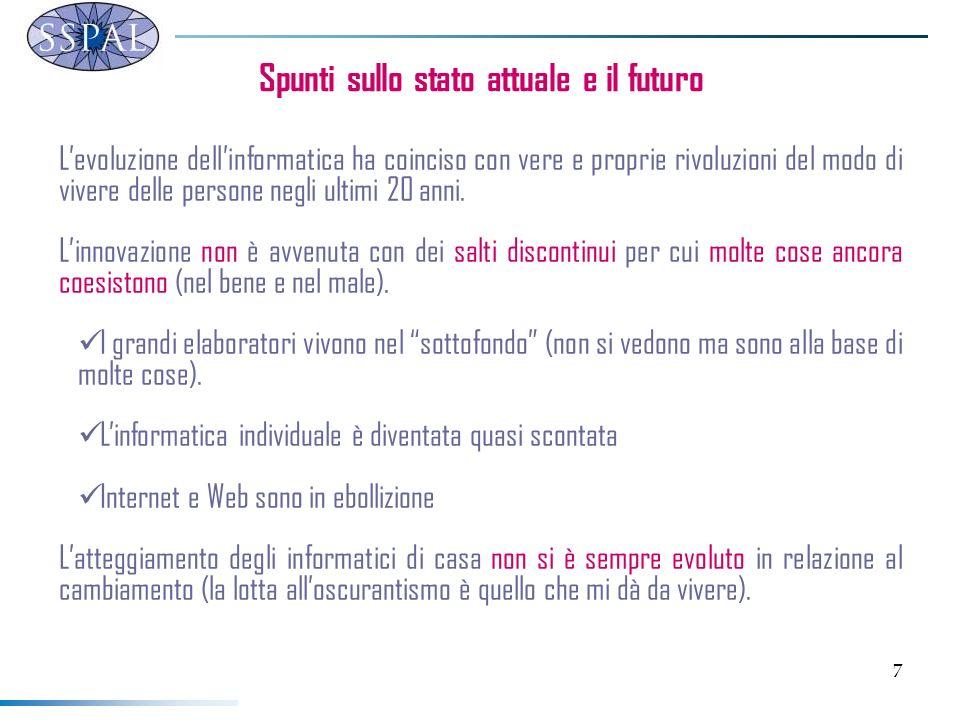38 Il ruolo dellICT - modelli di gestione La responsabilità del Responsabile dei Sistemi Informativi diviene quella di: creare un quadro di riferimento coerente agli obiettivi aziendali porre le condizioni per il buon funzionamento del sistema.