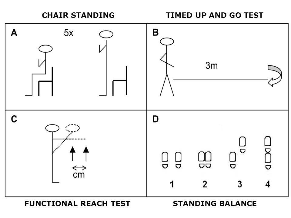 CHAIR STANDINGTIMED UP AND GO TEST FUNCTIONAL REACH TESTSTANDING BALANCE