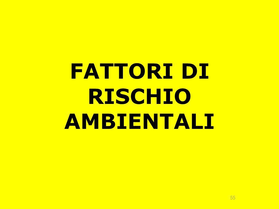 55 FATTORI DI RISCHIO AMBIENTALI
