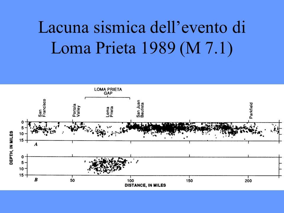 Lacuna sismica dellevento di Loma Prieta 1989 (M 7.1)