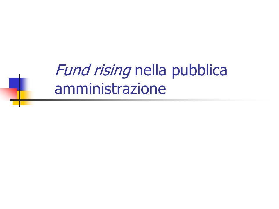 Fund rising nella pubblica amministrazione