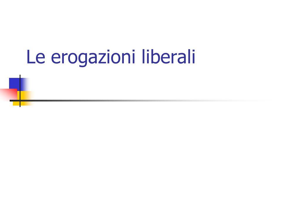Le erogazioni liberali