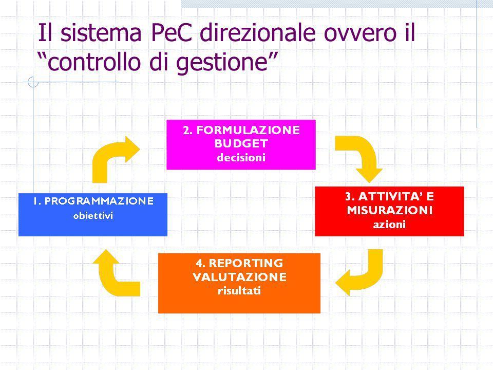 Il sistema PeC direzionale ovvero il controllo di gestione