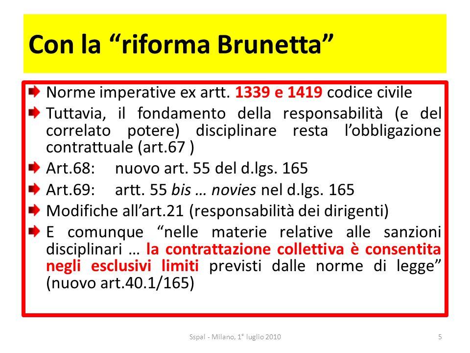 Con la riforma Brunetta Norme imperative ex artt.