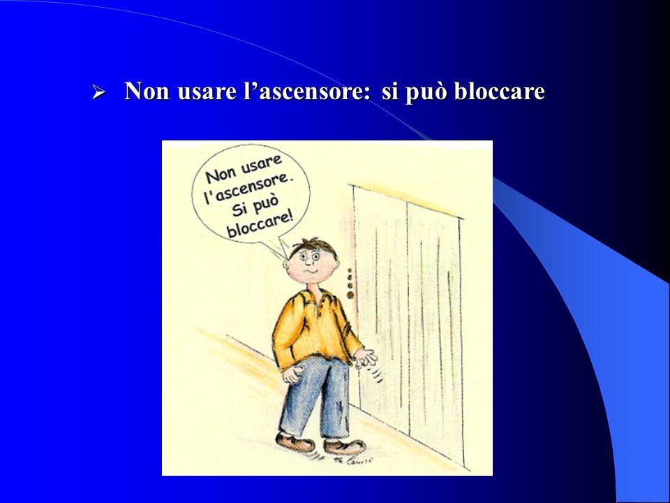 Non usare lascensore: si può bloccare Non usare lascensore: si può bloccare