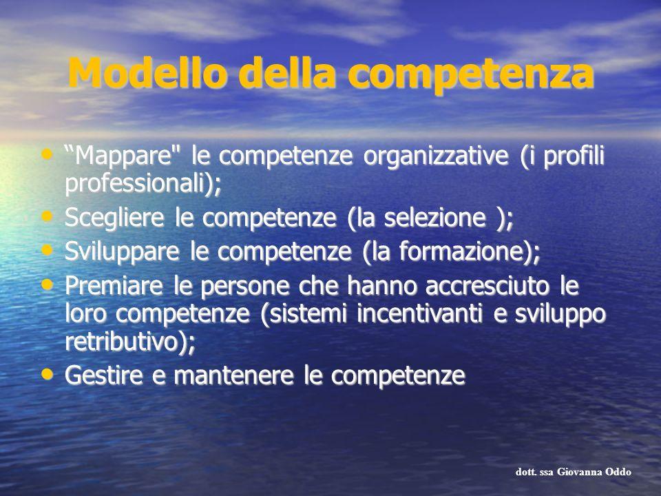 Modello della competenza Mappare