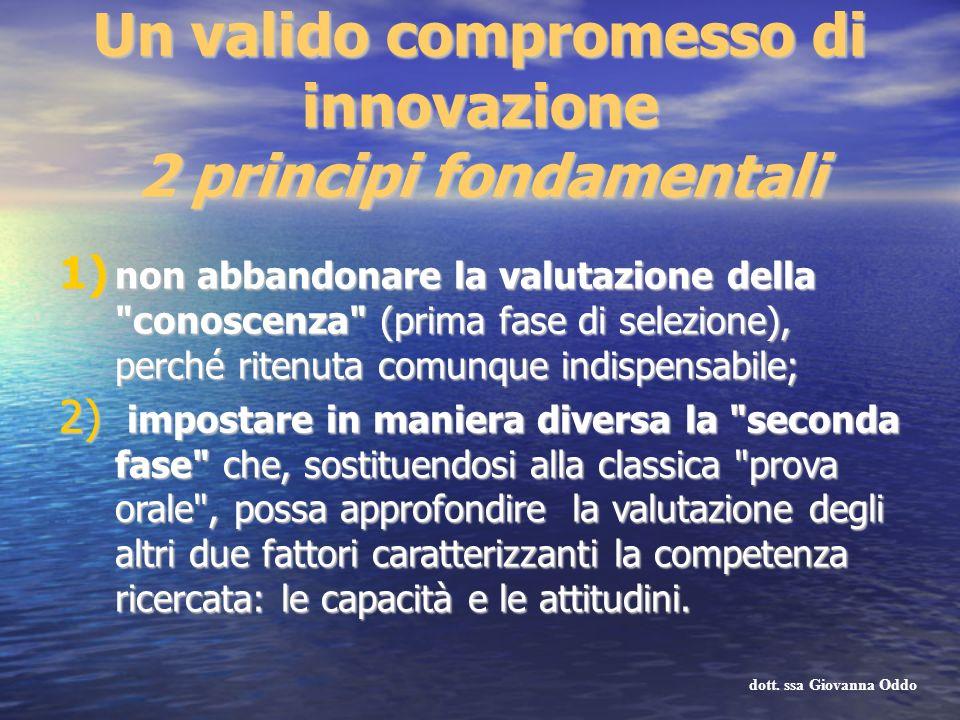 Un valido compromesso di innovazione 2 principi fondamentali 1) non abbandonare la valutazione della