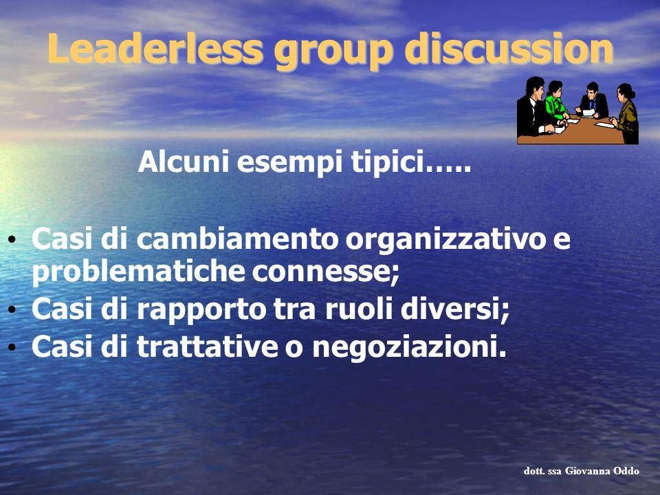 Alcuni esempi tipici….. Casi di cambiamento organizzativo e problematiche connesse; Casi di rapporto tra ruoli diversi; Casi di trattative o negoziazi