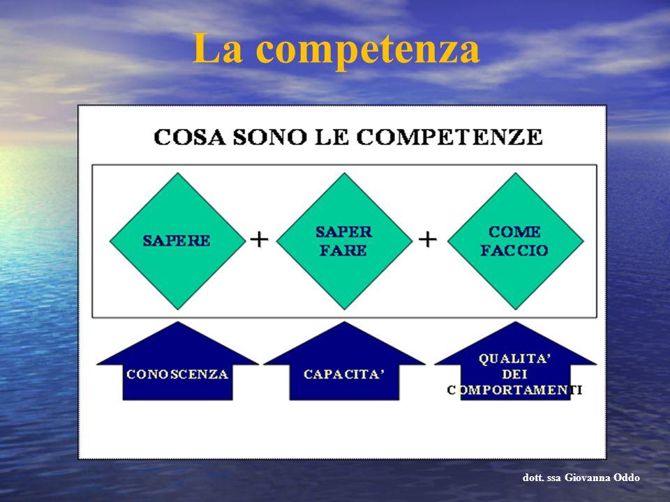 La competenza dott. ssa Giovanna Oddo