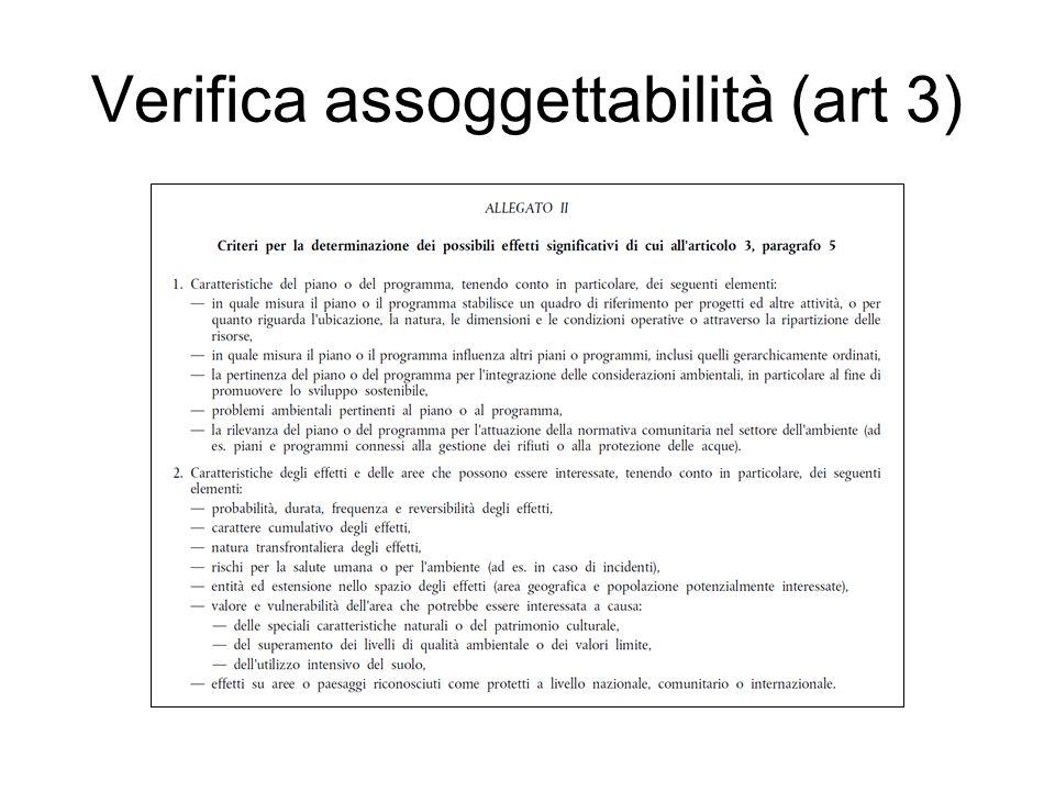 Verifica assoggettabilità (art 3)