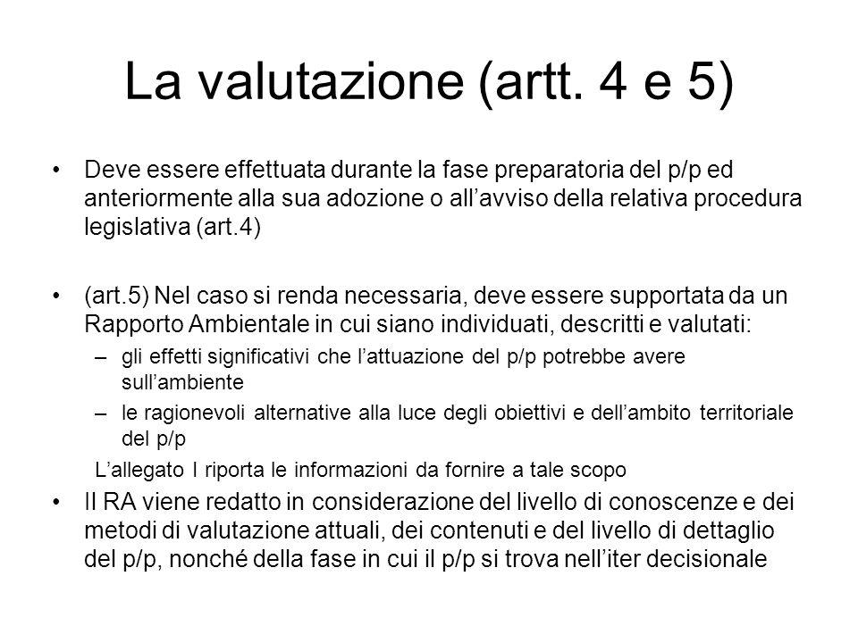 La valutazione (artt.