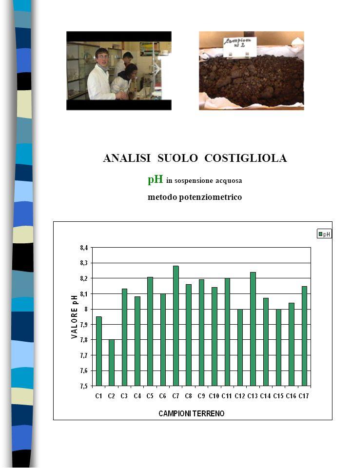 ANALISI SUOLO COSTIGLIOLA pH in sospensione acquosa metodo potenziometrico