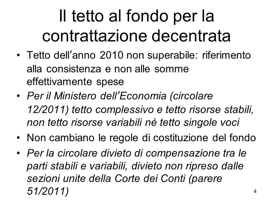 CONTRATTAZIONE delle risorse decentrate Tribunale Cagliari 16.10.2006 (4) diversamente il Comune ha agito con riguardo alla produttività, indennità di responsabilità, PEO, indennità maneggio valori, …..