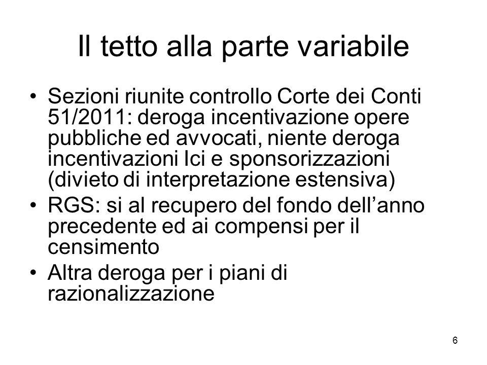 Ancora condizioni lecite per la produttività Corte Conti Sardegna sent.