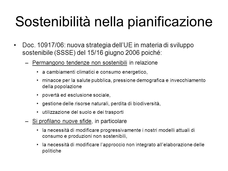 Sostenibilità nella pianificazione Doc.
