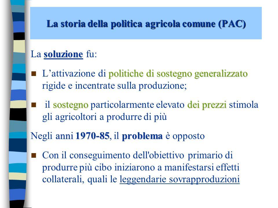 La storia della politica agricola comune (PAC)