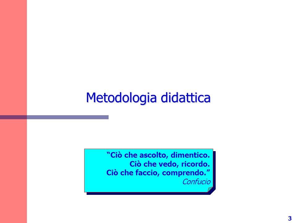 3 Metodologia didattica Ciò che ascolto, dimentico.