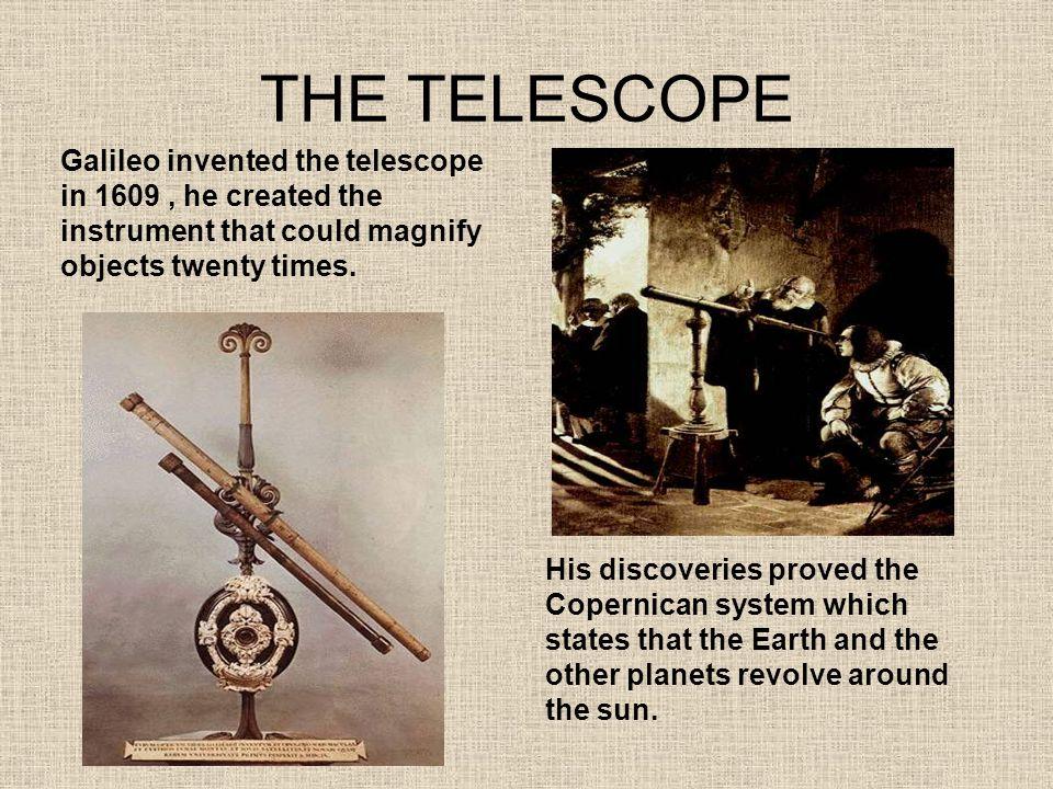 Riuscì a osservare le macchie solari rischiando la cecità poiché il Sole non deve mai essere osservato attraverso un telescopio Egli osservò anche la luna e le sue diverse fasi Giove e le quattro lune attorno simile al modello solare creato da Copernico.