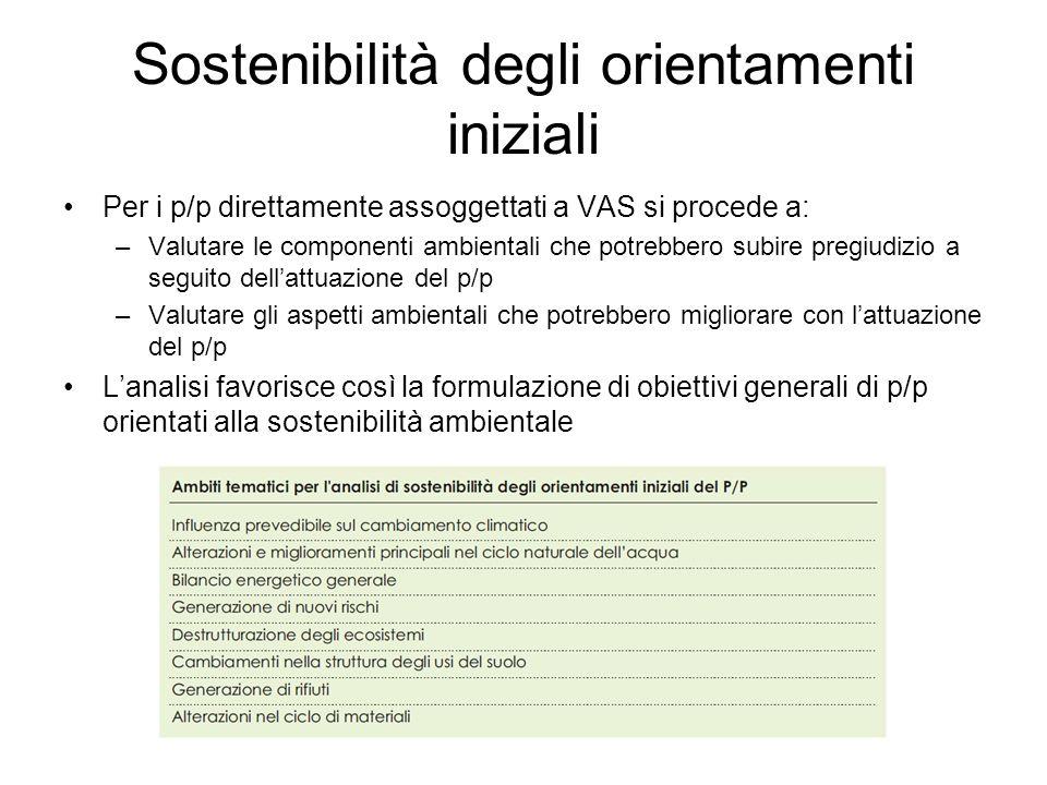 Rapporto Ambientale Sistematizzazione delle operazioni viste in fase di orientamento ed elaborazione, a partire dal Documento di Scoping