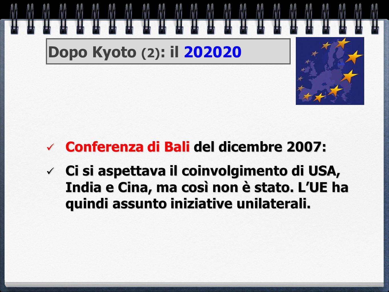 Conferenza di Bali del dicembre 2007: Conferenza di Bali del dicembre 2007: Ci si aspettava il coinvolgimento di USA, India e Cina, ma così non è stat