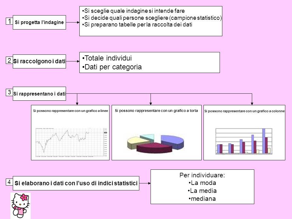 1 Si progetta lindagine Si sceglie quale indagine si intende fare Si decide quali persone scegliere (campione statistico) Si preparano tabelle per la