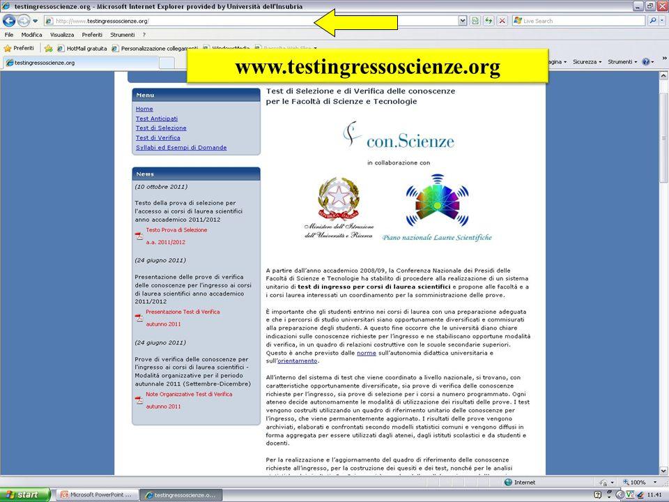 www.testingressoscienze.org