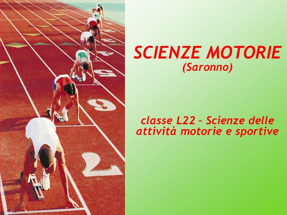 SCIENZE MOTORIE (Saronno) classe L22 – Scienze delle attività motorie e sportive
