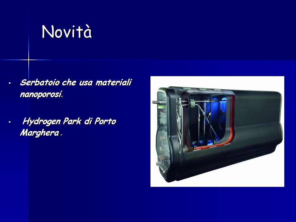 Novità Serbatoio che usa materiali nanoporosi. Serbatoio che usa materiali nanoporosi. Hydrogen Park di Porto Marghera. Hydrogen Park di Porto Margher