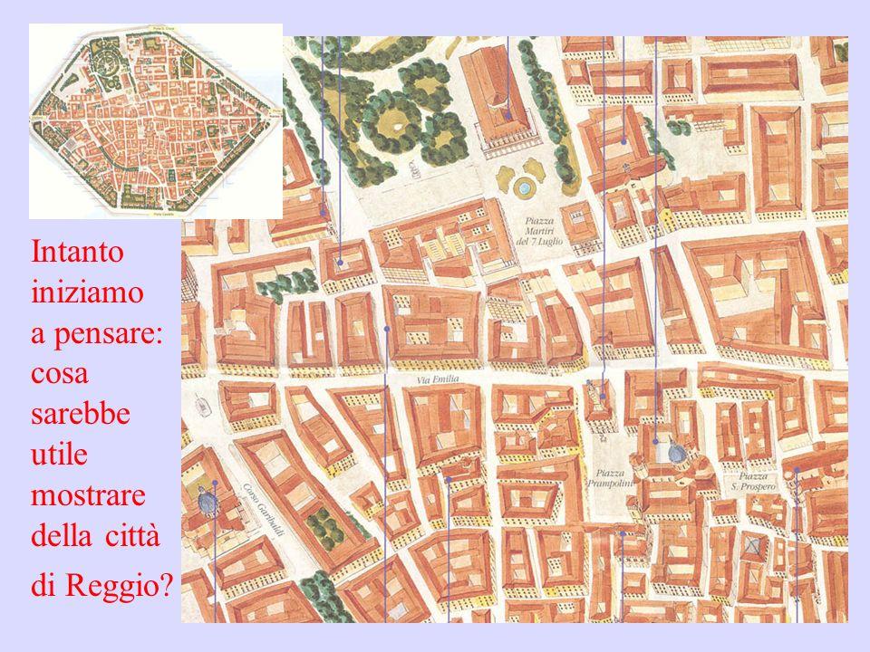 Intanto iniziamo a pensare: cosa sarebbe utile mostrare della città di Reggio?