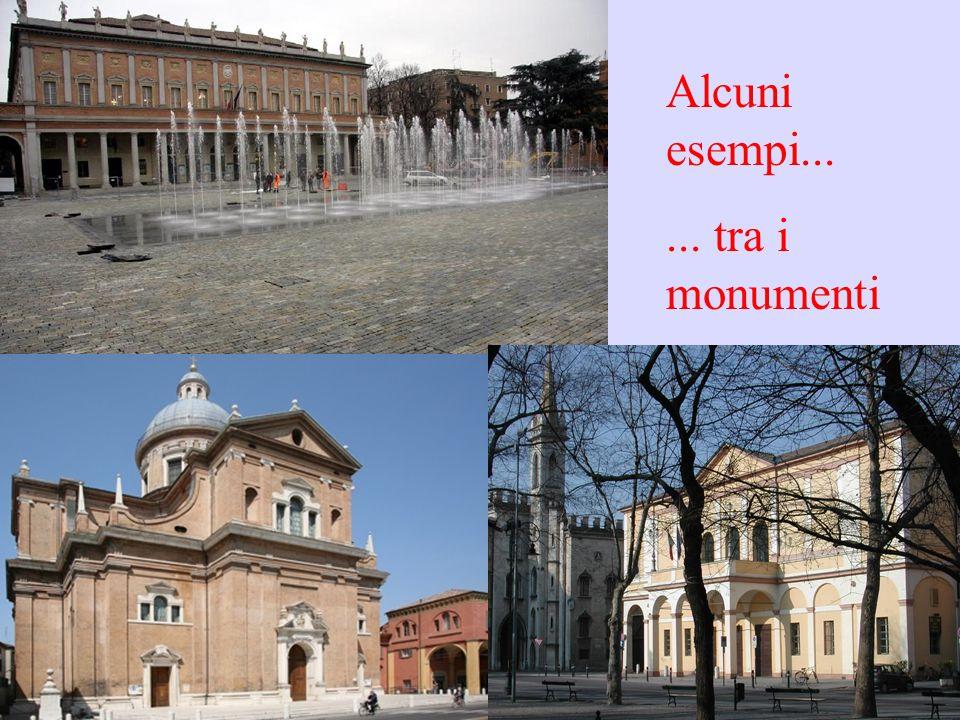 Alcuni esempi...... tra i monumenti