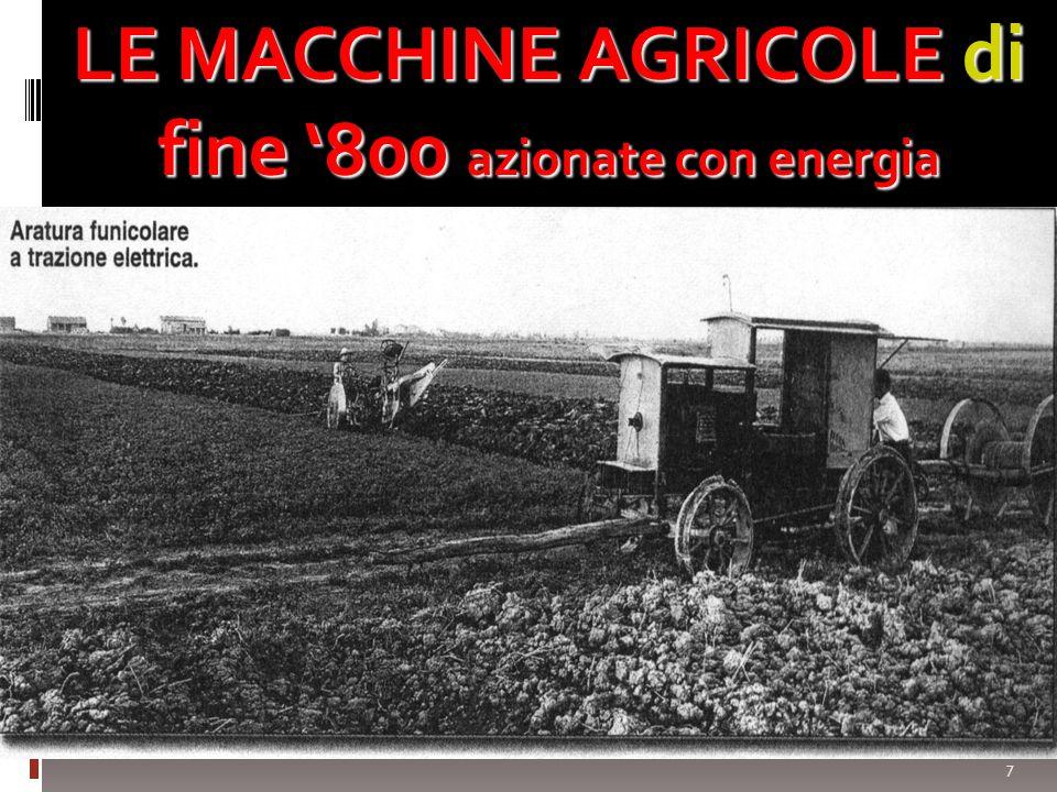 7 LE MACCHINE AGRICOLE di fine 800 azionate con energia meccanica