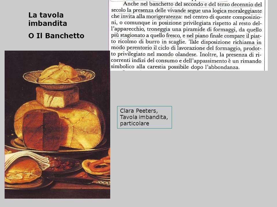 La tavola imbandita O Il Banchetto Clara Peeters, Tavola imbandita, particolare