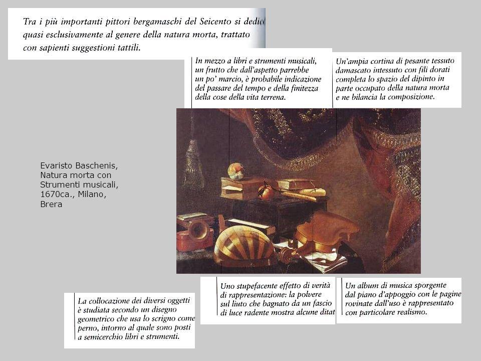 Evaristo Baschenis, Natura morta con Strumenti musicali, 1670ca., Milano, Brera