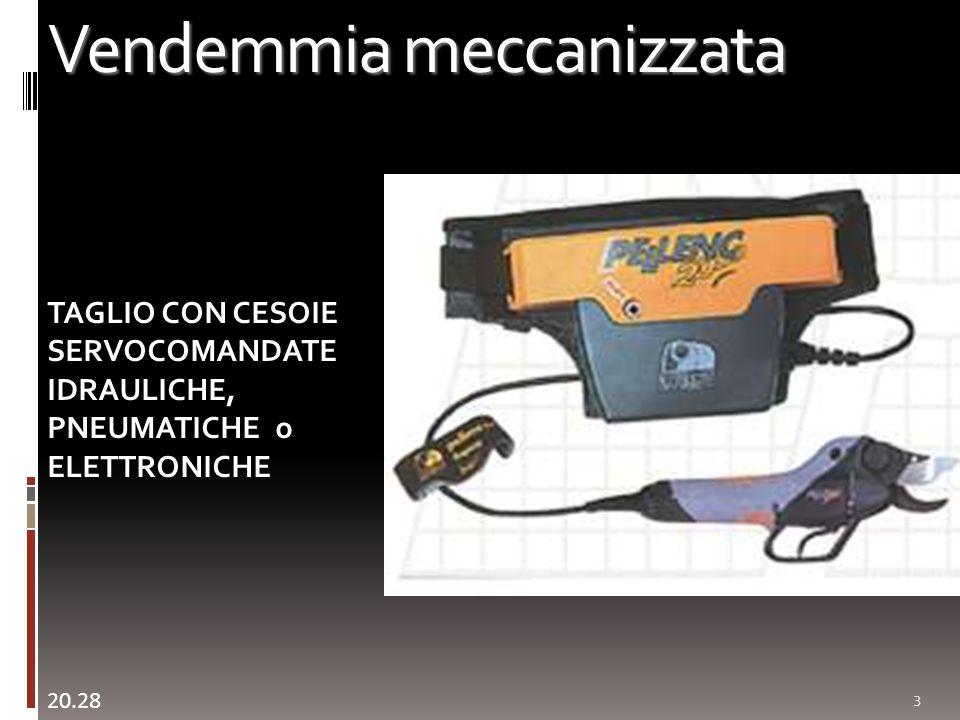 Vendemmia meccanizzata 3 TAGLIO CON CESOIE SERVOCOMANDATE IDRAULICHE, PNEUMATICHE o ELETTRONICHE 20.29