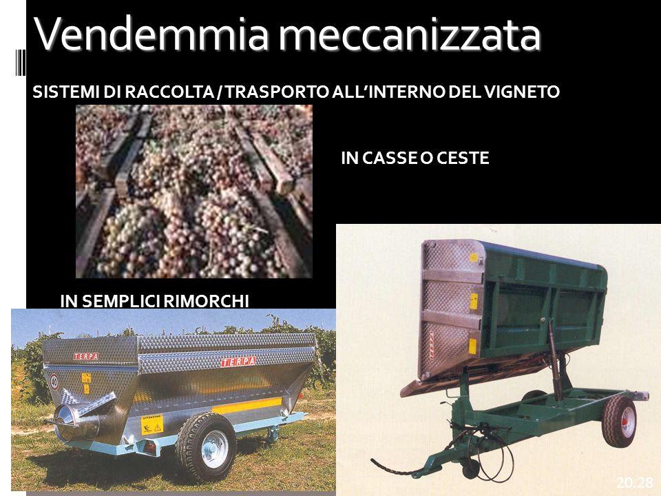 Vendemmia meccanizzata 4 SISTEMI DI RACCOLTA / TRASPORTO ALLINTERNO DEL VIGNETO IN CASSE O CESTE IN SEMPLICI RIMORCHI 20.29