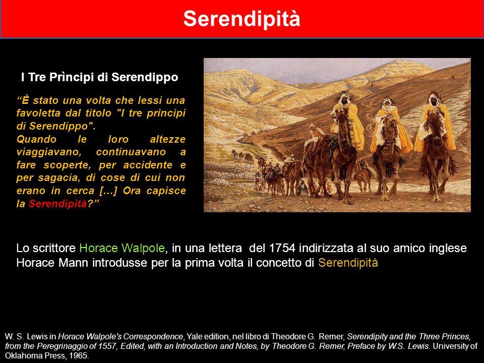 Lo scrittore Horace Walpole, in una lettera del 1754 indirizzata al suo amico inglese Horace Mann introdusse per la prima volta il concetto di Serendi