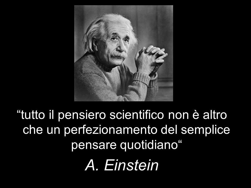 tutto il pensiero scientifico non è altro che un perfezionamento del semplice pensare quotidiano A. Einstein
