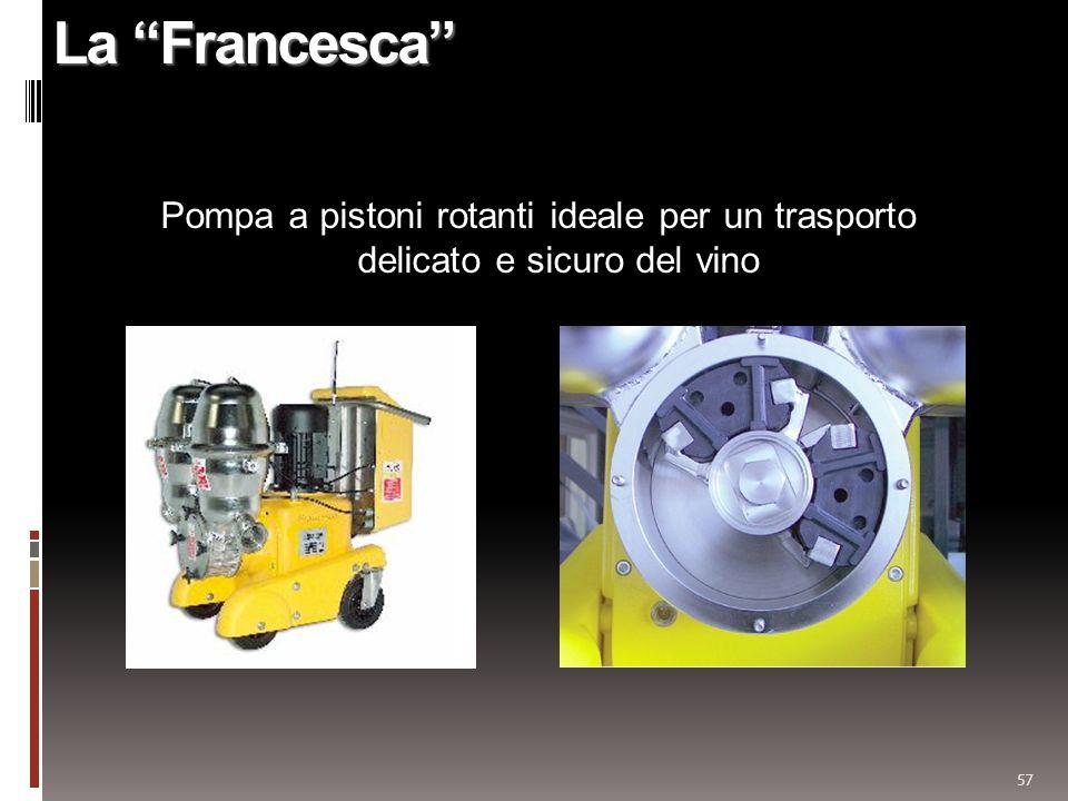 57 La Francesca Pompa a pistoni rotanti ideale per un trasporto delicato e sicuro del vino