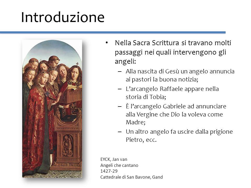Introduzione Nella Sacra Scrittura si travano molti passaggi nei quali intervengono gli angeli: – Alla nascita di Gesù un angelo annuncia ai pastori l