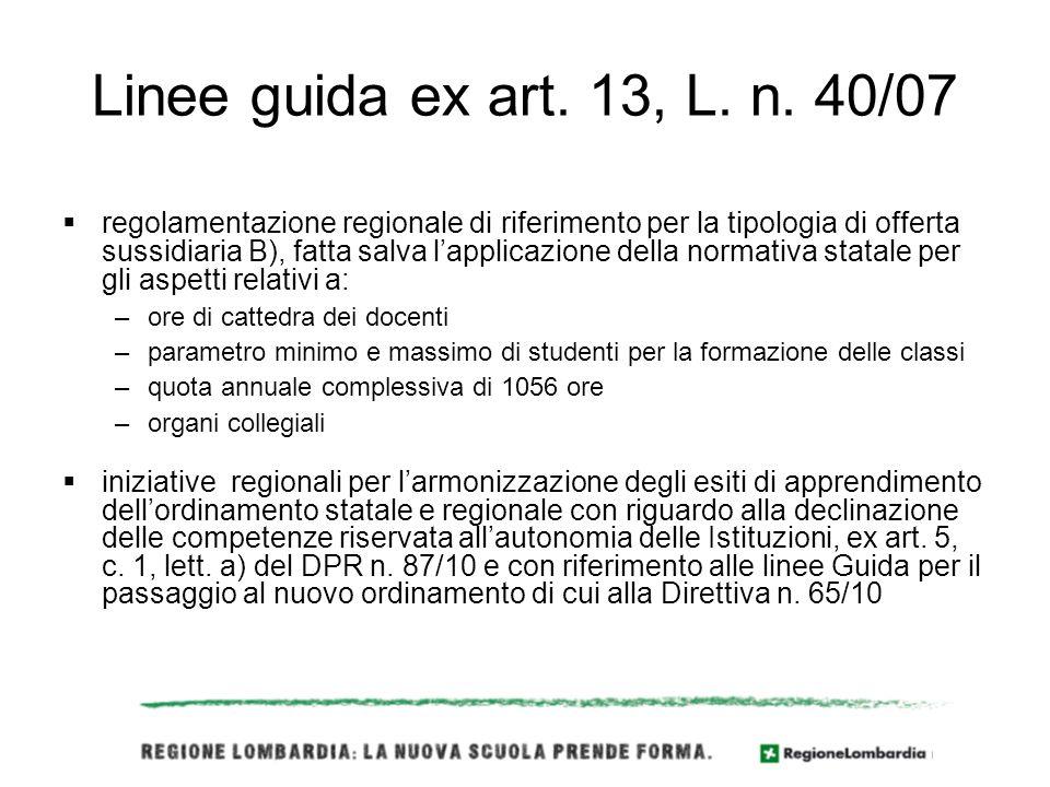 Linee guida ex art. 13, L. n.
