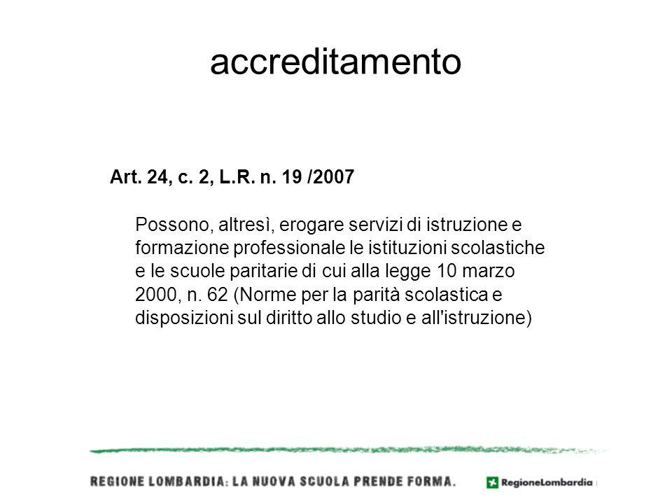 accreditamento Art. 24, c. 2, L.R. n.