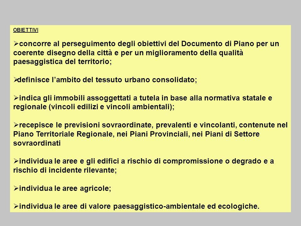 OBIETTIVI concorre al perseguimento degli obiettivi del Documento di Piano per un coerente disegno della città e per un miglioramento della qualità pa